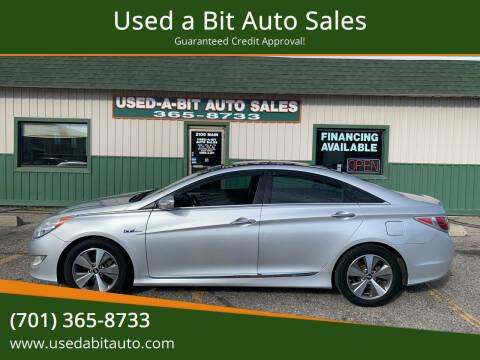 2012 Hyundai Sonata Hybrid for sale at Used a Bit Auto Sales in Fargo ND