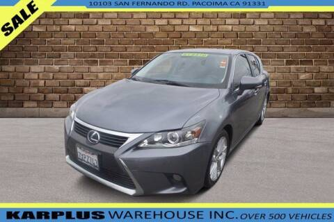 2017 Lexus CT 200h for sale at Karplus Warehouse in Pacoima CA
