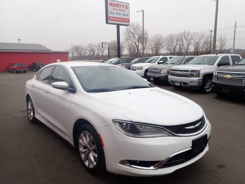 2015 Chrysler 200 for sale at Marty's Auto Sales in Savage MN