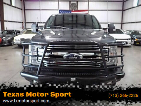 2018 Ford F-250 Super Duty for sale at Texas Motor Sport in Houston TX