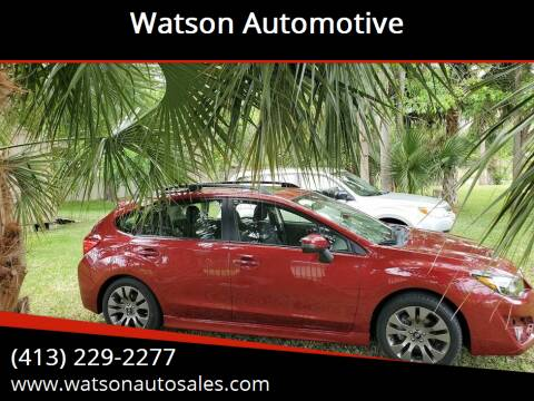 2016 Subaru Impreza for sale at Watson Automotive in Sheffield MA