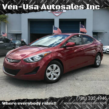2016 Hyundai Elantra for sale at Ven-Usa Autosales Inc in Miami FL
