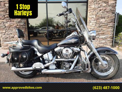 1995 Harley-Davidson Heritage Nostalgia FLSTN for sale at 1 Stop Harleys in Peoria AZ