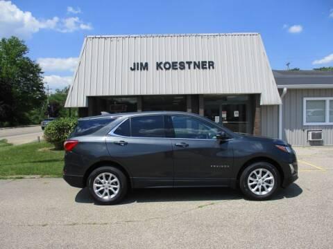 2018 Chevrolet Equinox for sale at JIM KOESTNER INC in Plainwell MI