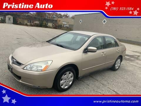 2004 Honda Accord for sale at Pristine Auto in Whitman MA