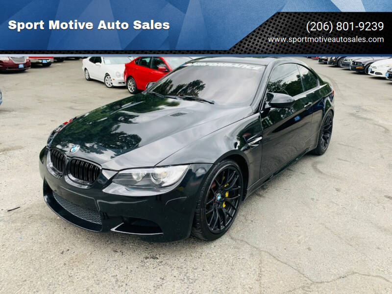 2011 BMW M3 for sale at Sport Motive Auto Sales in Seattle WA