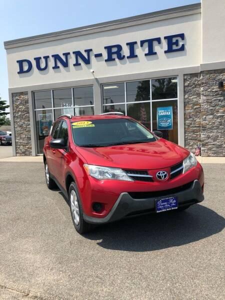 2013 Toyota RAV4 for sale at Dunn-Rite Auto Group in Kilmarnock VA