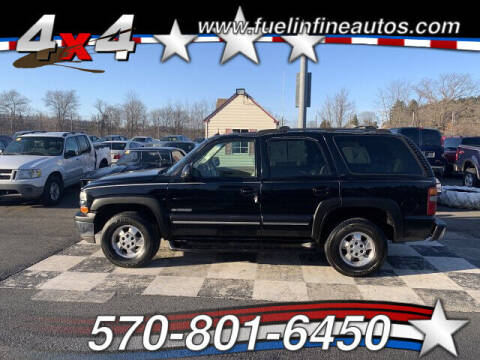 2003 Chevrolet Tahoe for sale at FUELIN FINE AUTO SALES INC in Saylorsburg PA