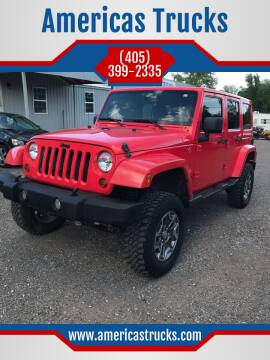 2013 Jeep Wrangler Unlimited for sale at Americas Trucks in Jones OK