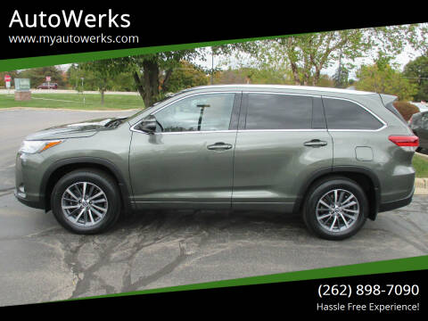 2018 Toyota Highlander for sale at AutoWerks in Sturtevant WI