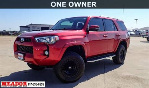 2018 Toyota 4Runner for sale at Meador Dodge Chrysler Jeep RAM in Fort Worth TX