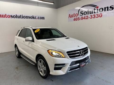 2014 Mercedes-Benz M-Class for sale at Auto Solutions in Warr Acres OK