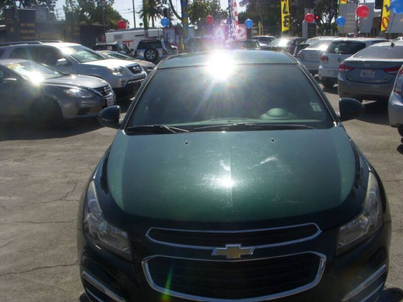 2015 Chevrolet Cruze for sale at Alliance Auto Group Inc in Fullerton CA