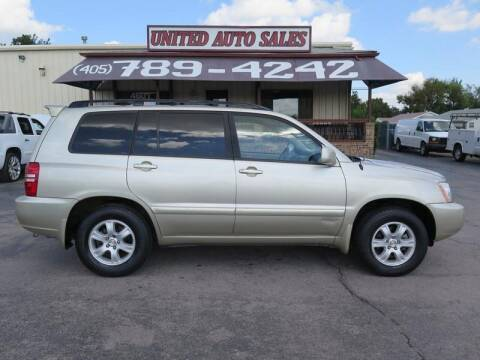 2001 Toyota Highlander for sale at United Auto Sales in Oklahoma City OK