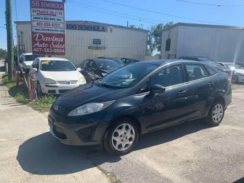 2011 Ford Fiesta for sale at DAVINA AUTO SALES in Orlando FL