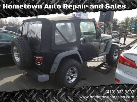 2004 Jeep Wrangler for sale at Hometown Auto Repair and Sales in Finksburg MD