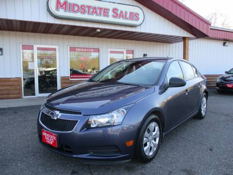 2013 Chevrolet Cruze for sale at Midstate Sales in Foley MN