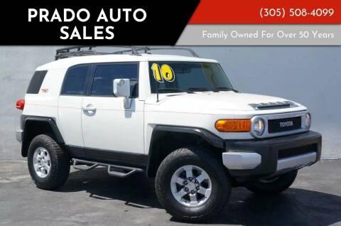 2010 Toyota FJ Cruiser for sale at Prado Auto Sales in Miami FL