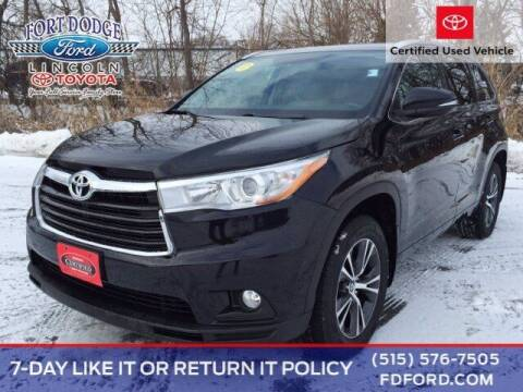 2016 Toyota Highlander for sale at Fort Dodge Ford Lincoln Toyota in Fort Dodge IA