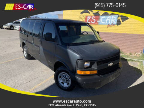 2005 Chevrolet Express Passenger for sale at Escar Auto - 9809 Montana Ave Lot in El Paso TX
