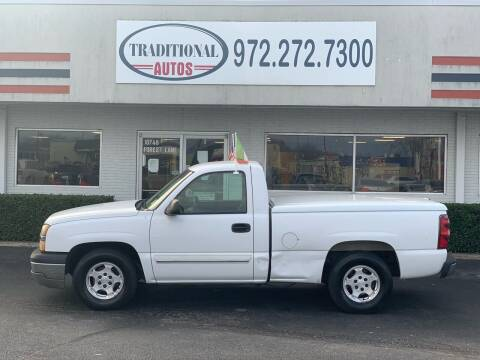 2003 Chevrolet Silverado 1500 for sale at Traditional Autos in Dallas TX