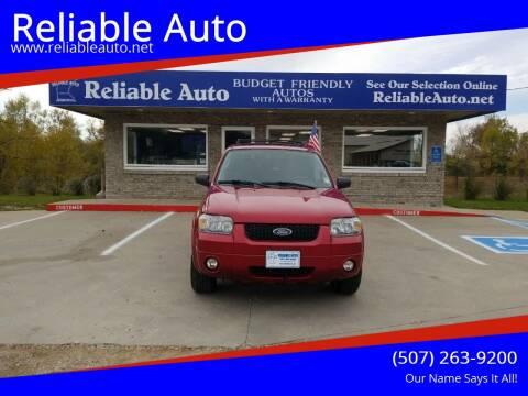 2007 Ford Escape for sale at Reliable Auto in Cannon Falls MN