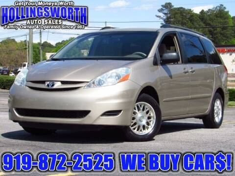 2006 Toyota Sienna for sale at Hollingsworth Auto Sales in Raleigh NC