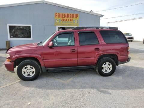 2005 Chevrolet Tahoe for sale at Friendship Auto Sales in Broken Arrow OK