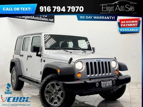 2011 Jeep Wrangler Unlimited for sale at Elegant Auto Sales in Rancho Cordova CA