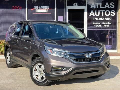 2015 Honda CR-V for sale at ATLAS AUTOS in Marietta GA