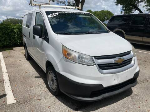 2015 Chevrolet City Express Cargo for sale at Tropical Motors Cargo Vans and Car Sales Inc. in Pompano Beach FL