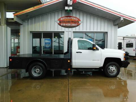 2015 Chevrolet Silverado 3500HD CC for sale at Motorsports Unlimited in McAlester OK