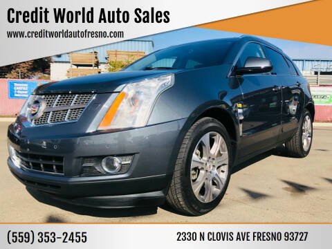 2012 Cadillac SRX for sale at Credit World Auto Sales in Fresno CA