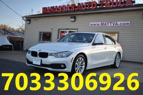 2016 BMW 3 Series for sale at MANASSAS AUTO TRUCK in Manassas VA