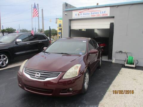 2011 Nissan Altima for sale at K & V AUTO SALES LLC in Hollywood FL