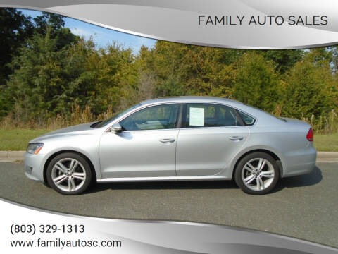 2012 Volkswagen Passat for sale at Family Auto Sales in Rock Hill SC