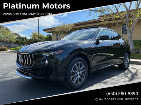 2018 Maserati Levante for sale at Platinum Motors in San Bruno CA