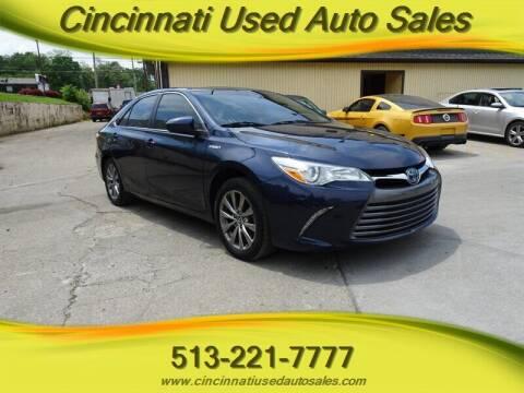 2017 Toyota Camry Hybrid for sale at Cincinnati Used Auto Sales in Cincinnati OH
