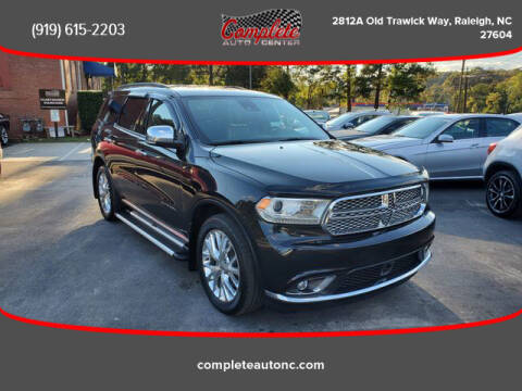 2014 Dodge Durango for sale at Complete Auto Center , Inc in Raleigh NC