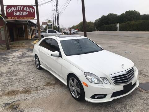 2010 Mercedes-Benz E-Class for sale at Quality Auto Group in San Antonio TX