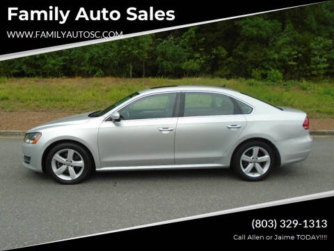 2013 Volkswagen Passat for sale at Family Auto Sales in Rock Hill SC