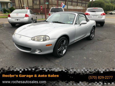2004 Mazda MX-5 Miata for sale at Roche's Garage & Auto Sales in Wilkes-Barre PA