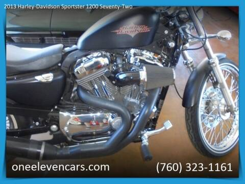 2013 Harley-Davidson Sportster 1200 Seventy-Two for sale at One Eleven Vintage Cars in Palm Springs CA