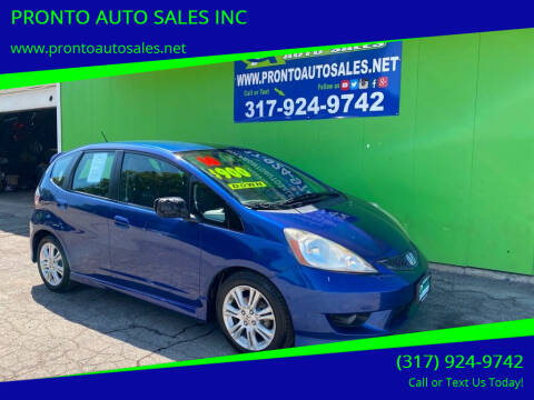2010 Honda Fit for sale at PRONTO AUTO SALES INC in Indianapolis IN