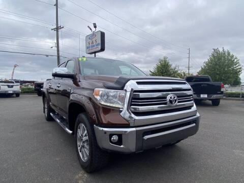 2017 Toyota Tundra for sale at S&S Best Auto Sales LLC in Auburn WA