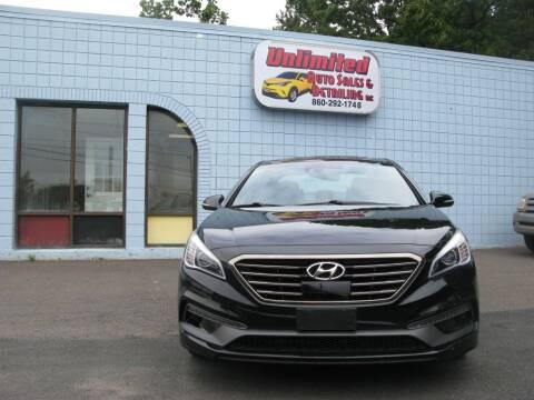 2015 Hyundai Sonata for sale at Unlimited Auto Sales & Detailing, LLC in Windsor Locks CT