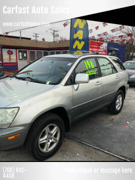 2001 Lexus RX 300 for sale at Carfast Auto Sales in Dolton IL