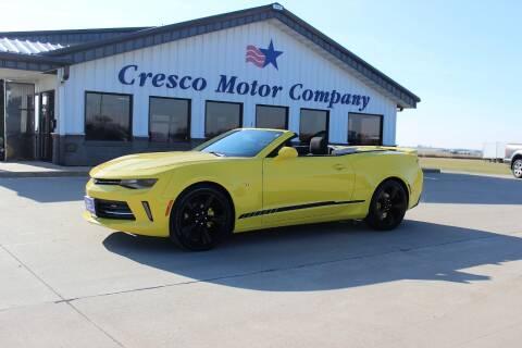 2016 Chevrolet Camaro for sale at Cresco Motor Company in Cresco IA