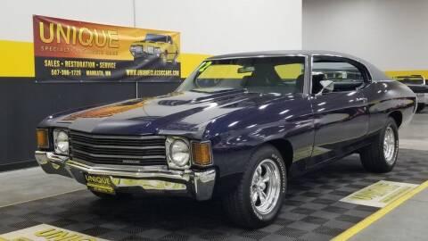 1972 Chevrolet Chevelle for sale at UNIQUE SPECIALTY & CLASSICS in Mankato MN