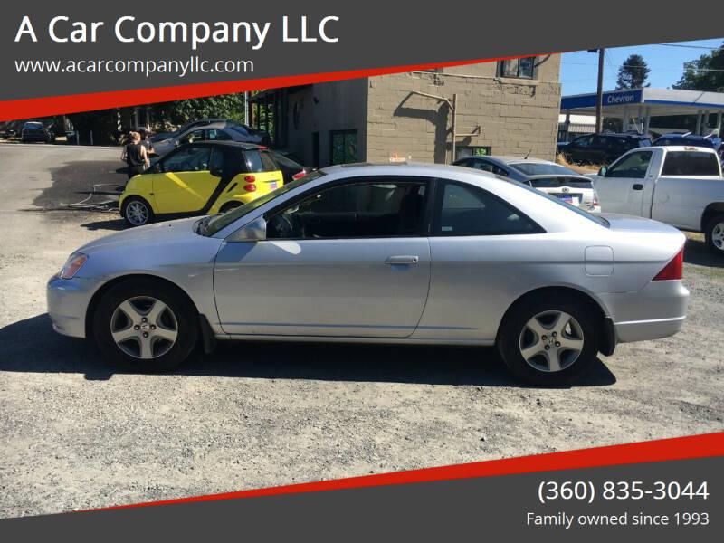 2002 Honda Civic for sale at A Car Company LLC in Washougal WA